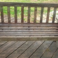 Lister Teak Patio Bench.-$125.00